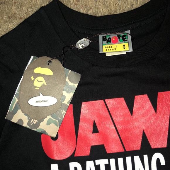 2XL Mens A Bathing Ape X Collaboration white t-shirt Bape size S
